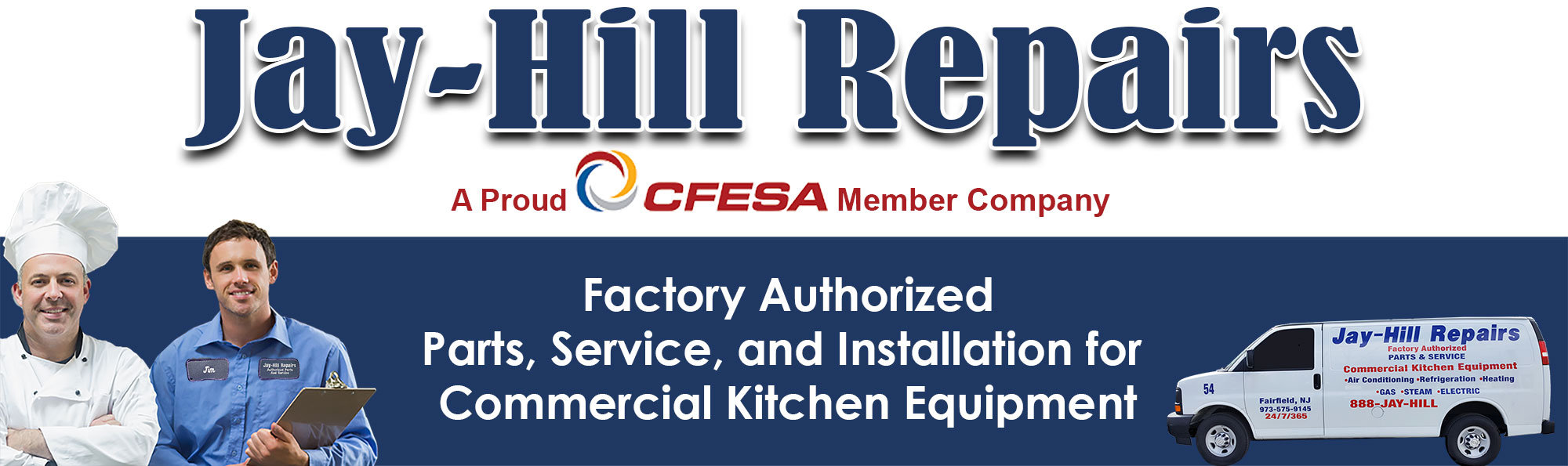 Jay-Hill Repairs - Factory Authorized Parts, Service and Installation for Commercial Kitchen Equipment
